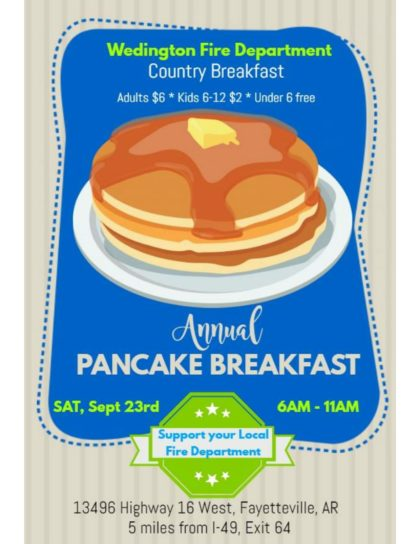 Breakfast Fundraiser September 23rd 6-11am